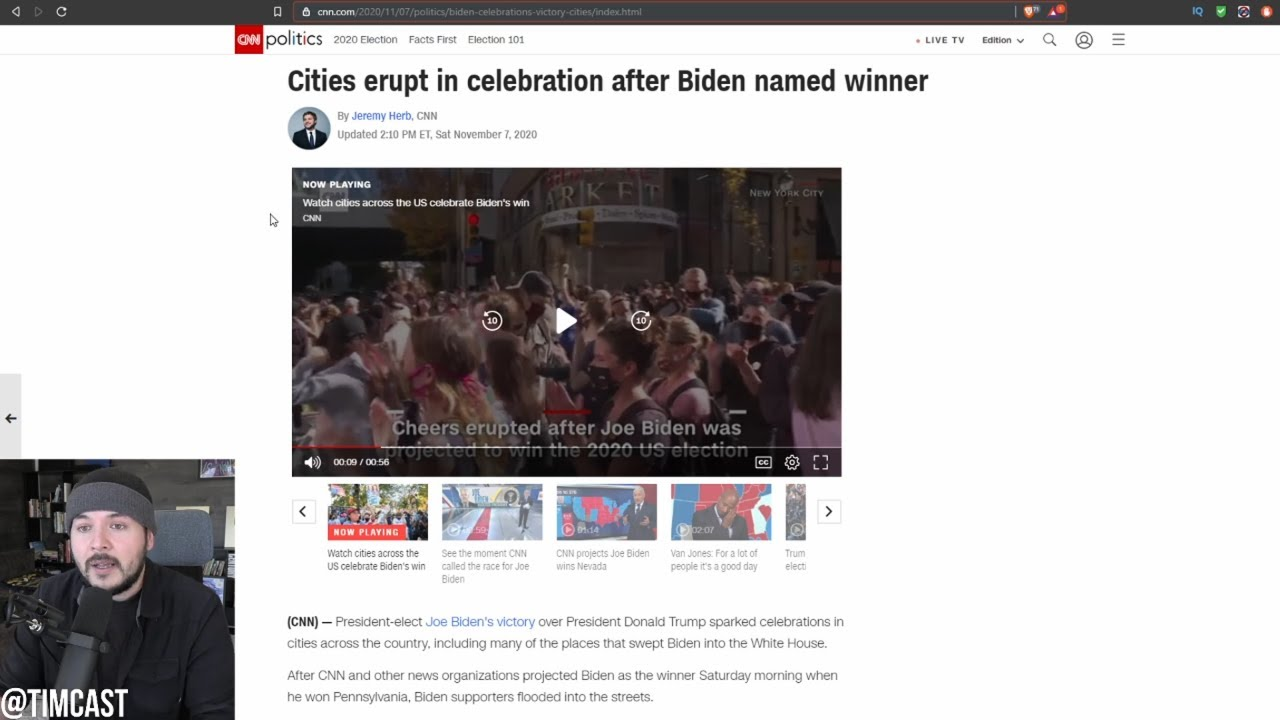 Media Says Biden WON And COVID Fear VANISHED Instantly As Leftists DANCE In Crowds