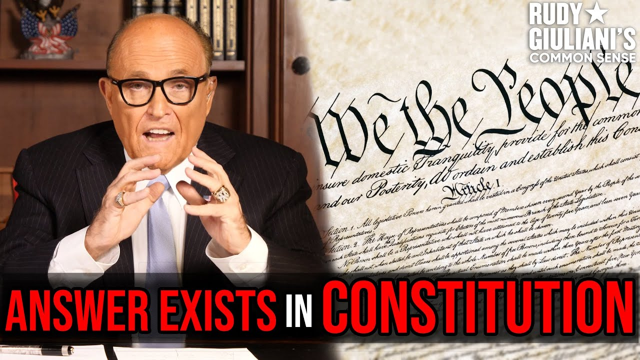 MUST WATCH: The ANSWER Exists In CONSTITUTION | Rudy Giuliani