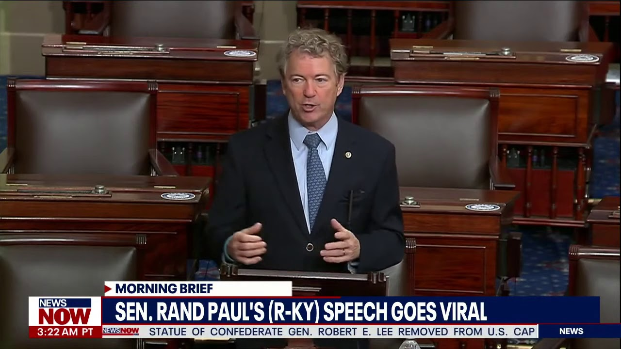 VIRAL SPEECH: Rand Paul's (R-KY) Senate floor speech against COVID-19 bill