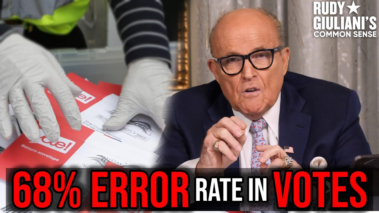DISCOVERY: 68% ERROR Rate In Votes PROVES Intentional Fraud | Rudy Giuliani