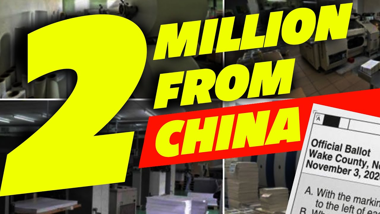 Illegal US Ballots Printed and Shipped from Chinese Factory.