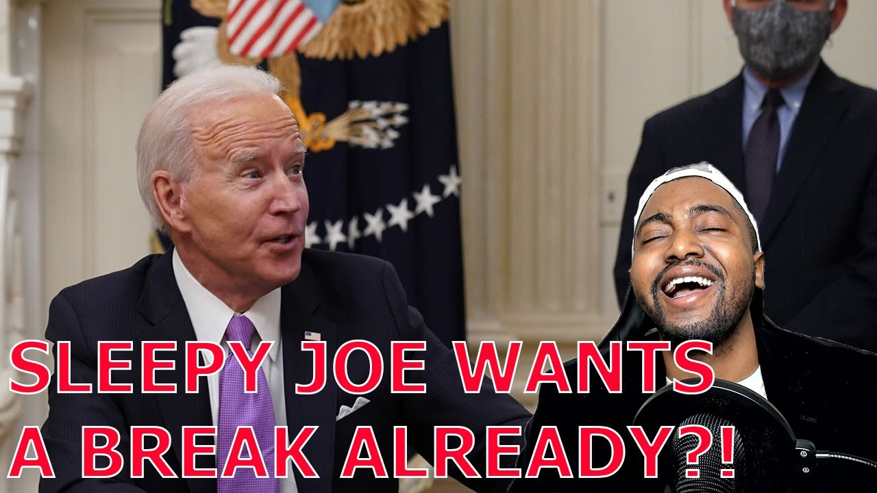 """Biden SNAPS """"GIMME A BREAK"""" ADMITS They Have NO PLAN On COVID Because Trump Already BEAT Their Goals"""