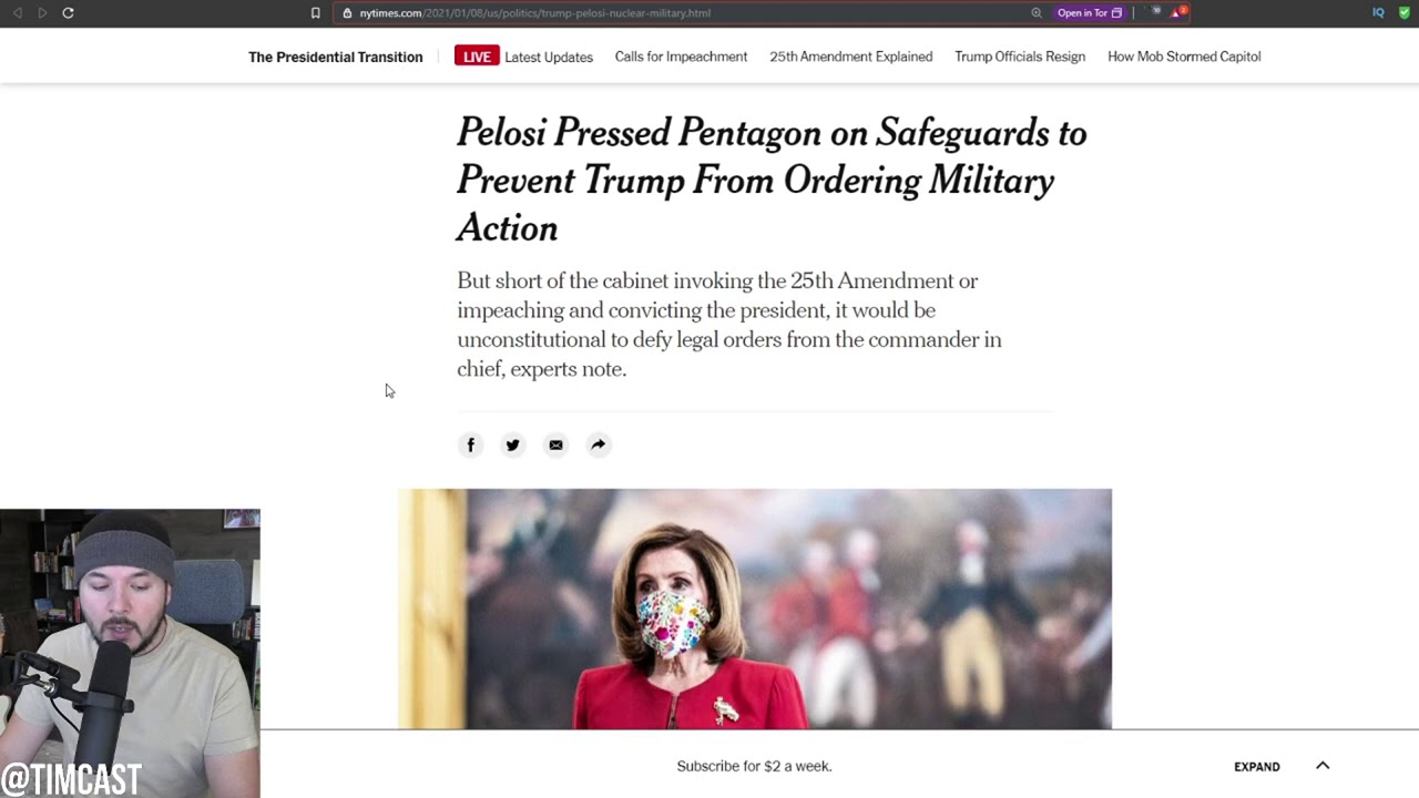 Pentagon Officials Say Pelosi Asked Them To Stage A Military Coup Against President Trump