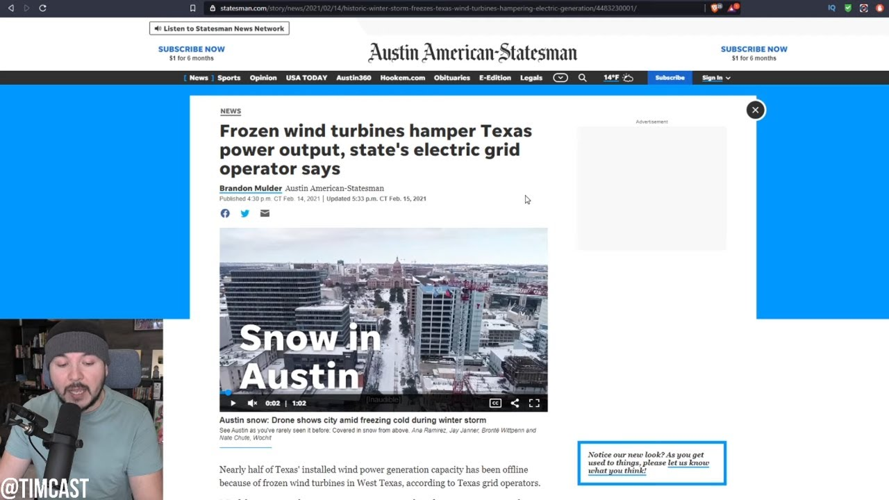 Texas Wind Turbines FREEZE, 5M Lose Power In Extreme Weather, Conservatives SLAM Green New Deal