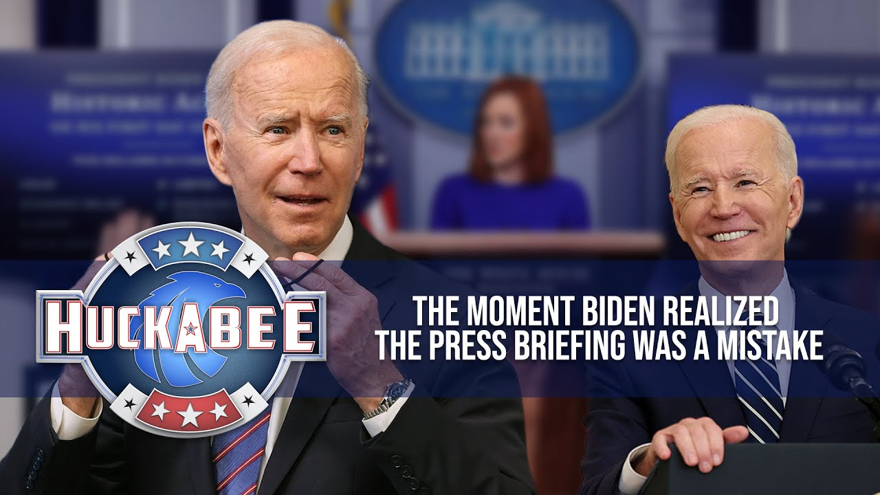 The Moment Biden Realized The Press Briefing Was A Mistake