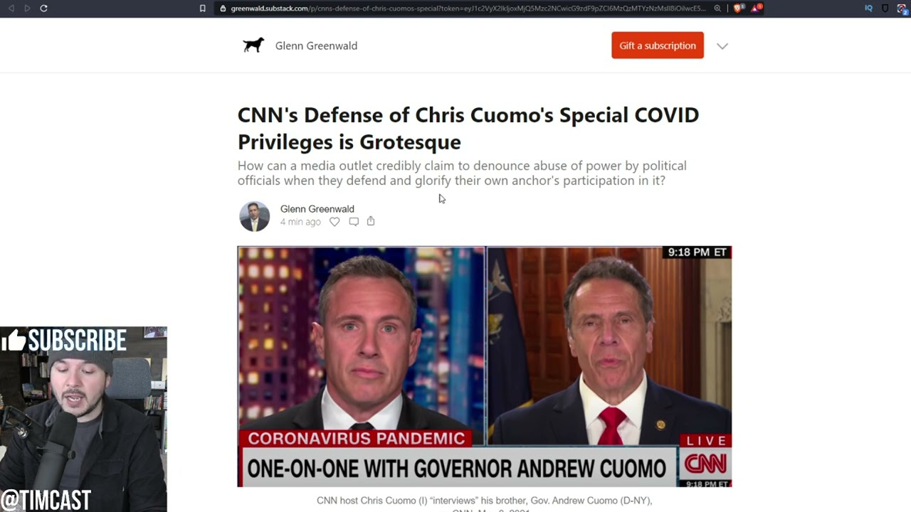 Andrew Cuomo Secretly Gave his Family Access To COVID Treatment, CNN DEFENDS The Corruption