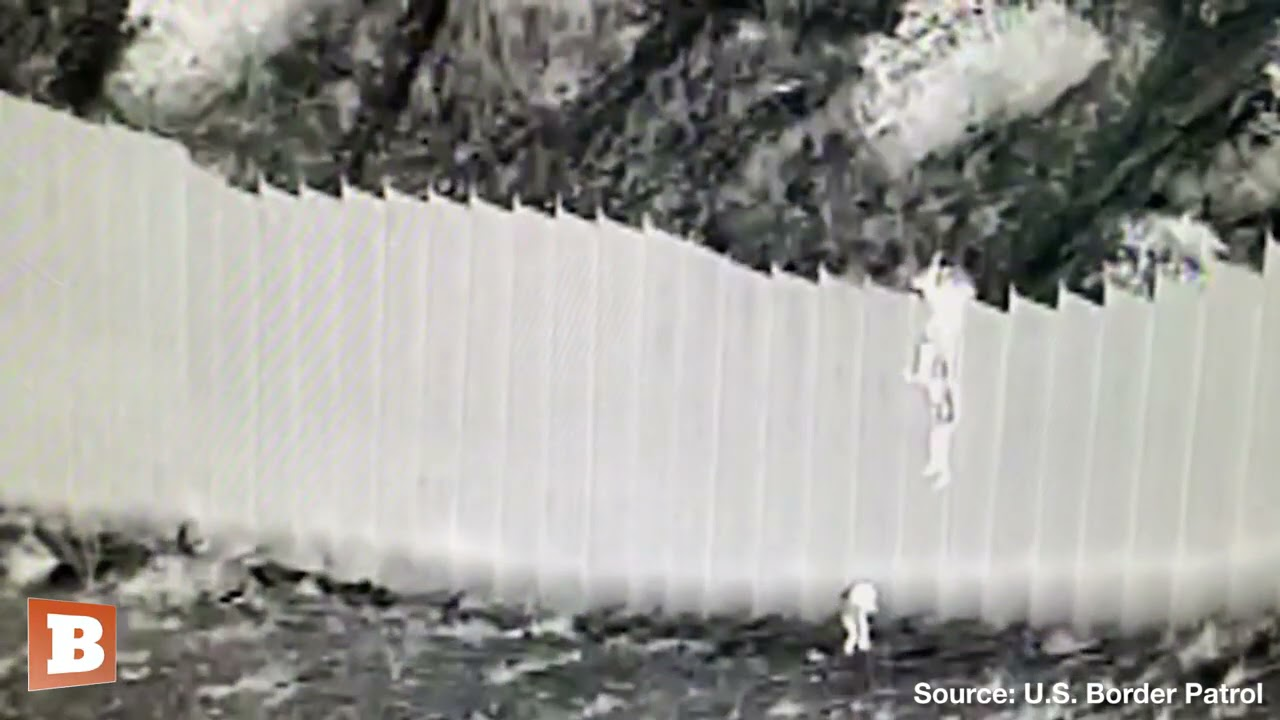 Leaked Video: Human Smugglers Drop Small Children from Border Wall in New Mexico