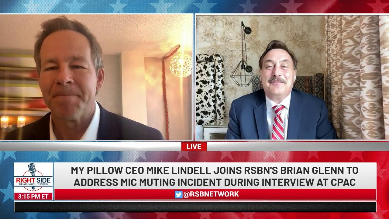 """🔴 Interview with My Pillow CEO Mike Lindell on RSBN """"Mic Muting"""" Incident at CPAC"""
