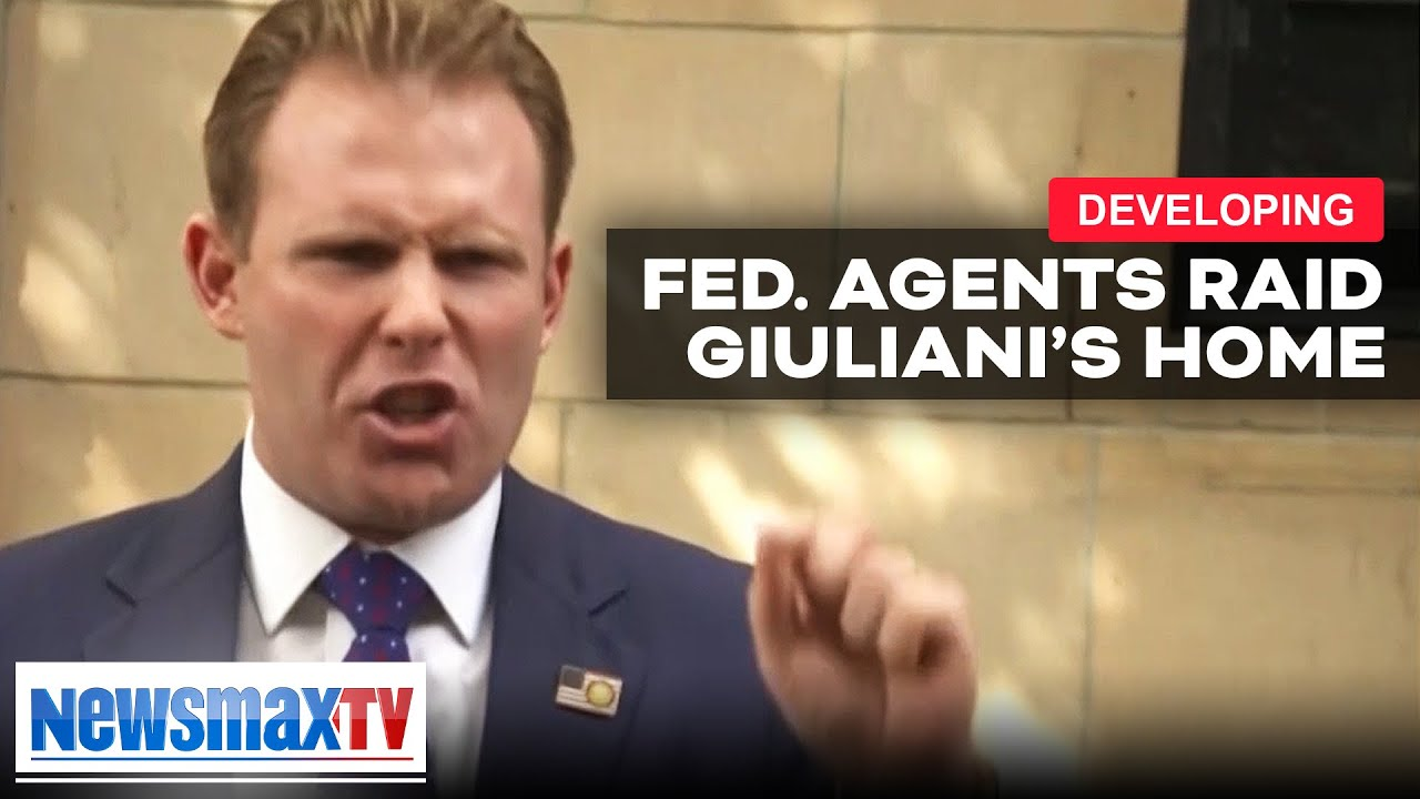 BREAKING: Giuliani's son addresses reporters after Federal raid