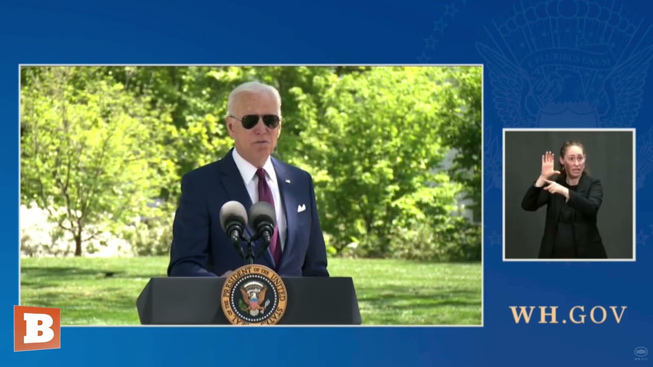 "Biden Wears Masks Outside, Alone, to Model How to ""Take It Off and Not Put It Back On"""