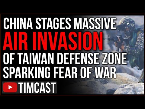 China Stages LARGEST Air Invasion of Taiwan Airspace Sparking Fears The U.S. Is Headed Towards War- Is Biden Ready?